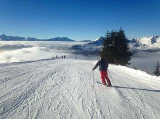 Craig cruising the pistes in Les Gets
