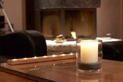 Open fireplace - Chalet Virolet
