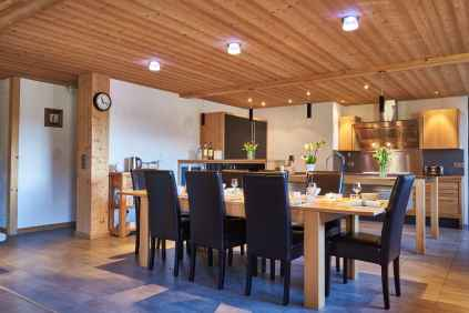 Dining area at Chalet Virolet