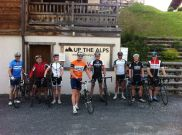 Cycling guests at Chalet Virolet