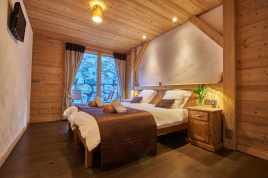 Twin bedroom at Chalet Virolet
