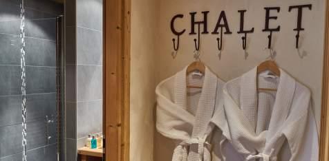 Cosy waffle bathrobes at Chalet Virolet