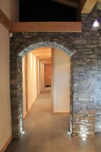 Stunning stone arch hallway
