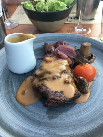 Steak with Morel sauce