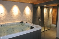 Jacuzzi in basement spa